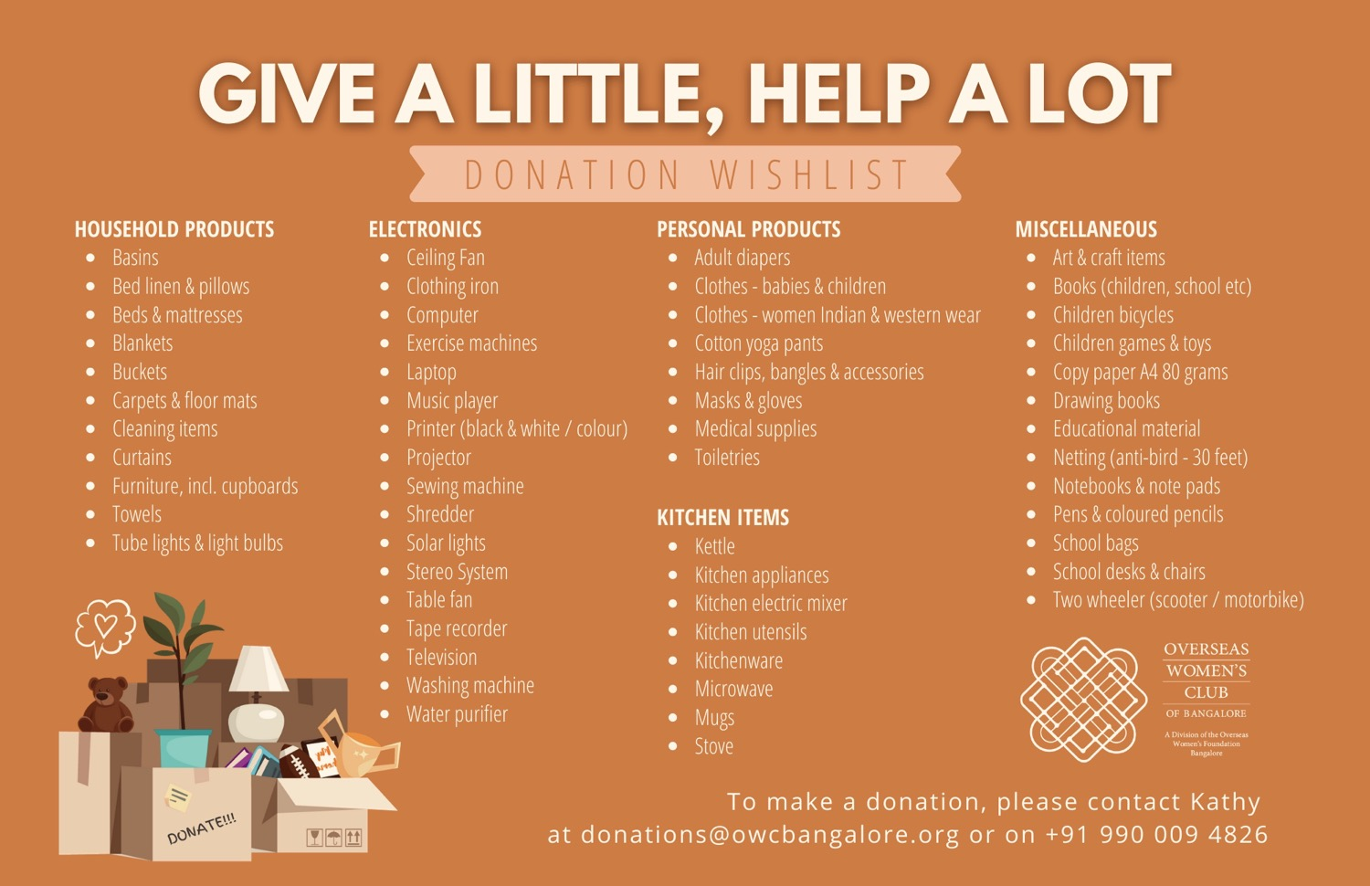 Donation Wishlist