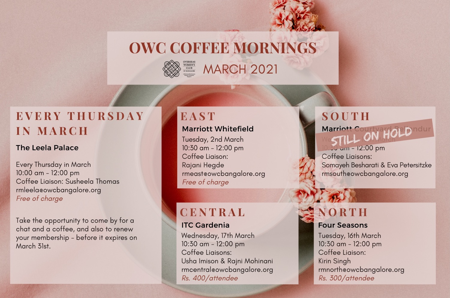 March Coffee Mornings