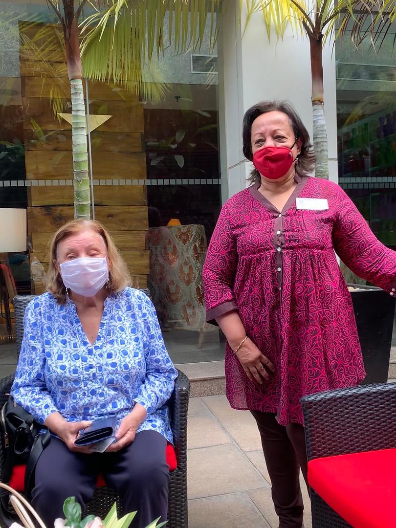 Masked fashionistas