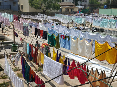 A dhobi's work is never done!