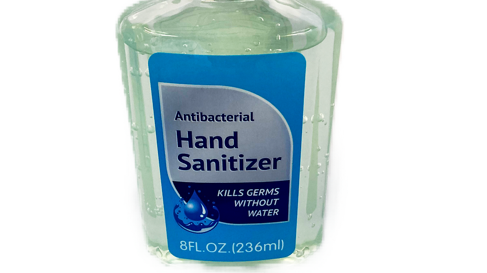 Antibacterial Gel Hand Sanitizer- 8oz