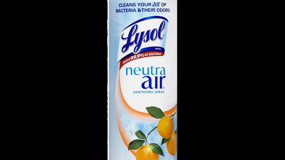 Lysol Neutra Air Sanitizing Spray Air Freshener, Citrus Zest Scent, 10 Oz