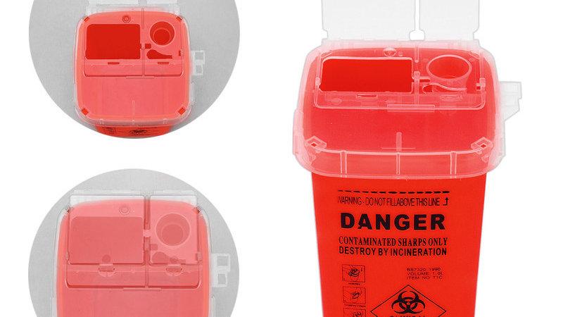 Sharps Supplies Discard Storage Container Plastic  Biohazard Needle Disposal