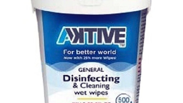 AKtive Disinfecting & Cleaning Wet 500 Wipes