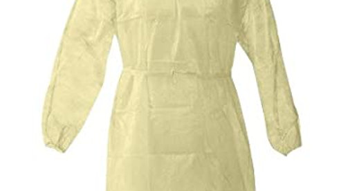 Disposable Yellow Isolation Gowns 10 count