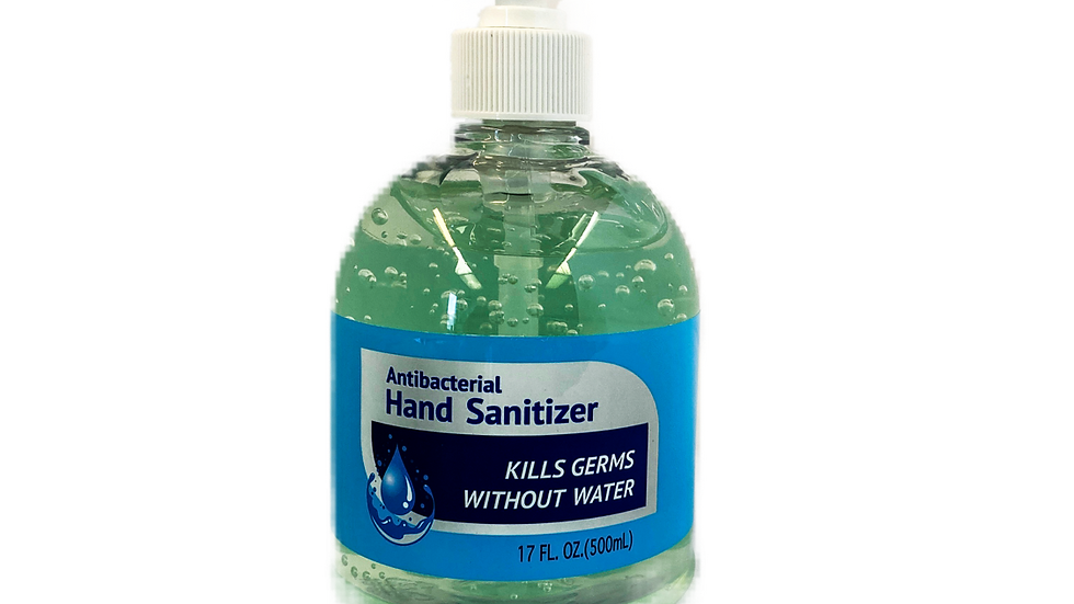 Case of 12- Antibacterial Gel Hand Sanitizer- 17oz