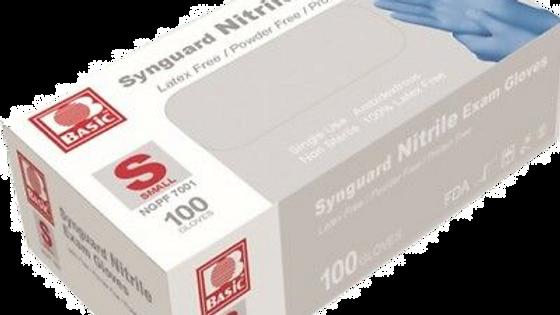 Case - Basic SynGuard Nitrile Examination Gloves- Large