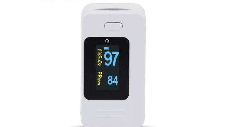 CMS50D4 White Finger Pulse Oximeter Fingertip Blood Oxygen Monitor SpO2 Meter Pu