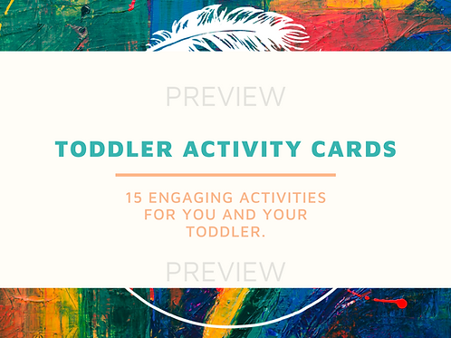 Toddler Activity Cards