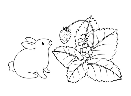 Bunny Coloring Page