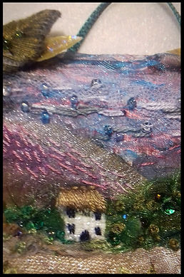 textile collage art | mixed media textile art | mixed media collage | embroidery course | residential art course | residential craft course