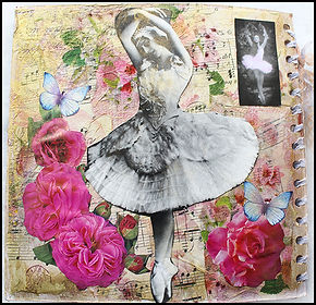 vintage paper craft | vintage journal making | ballerina journal | craft courses in Andalucia