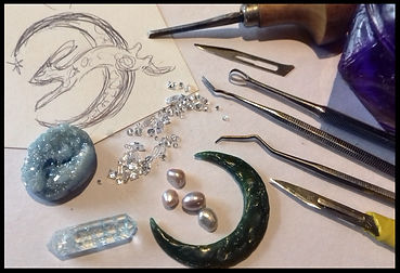 Jewellery making holiday Spain | Wax sculpting course | Heart and Art Andalucia