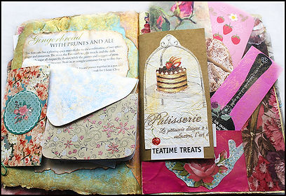 vintage cake journal | baking journal | vintage junk journal | Heart and Art Andalucia