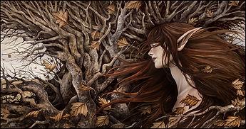 fairy and hazel tree Dartmoor