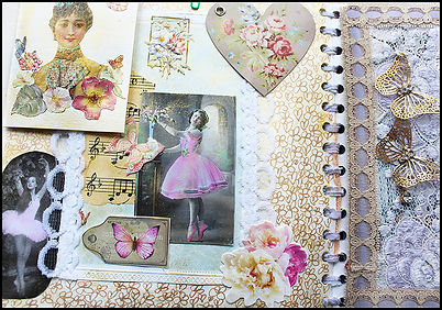 Vintage Victorian scrapbook | Craft Holidays Spain | Craft holiday Spain