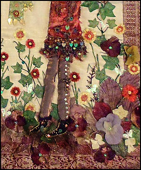 Art painting holiday retreat Spain | raised applique details