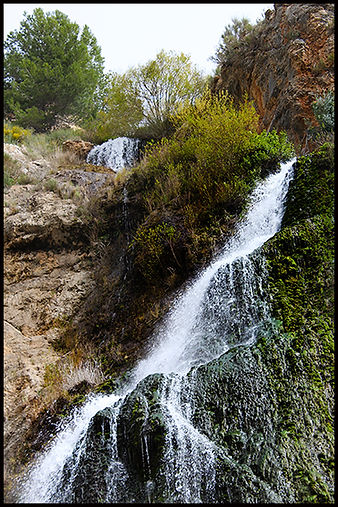 waterfalls in the countryside Granada