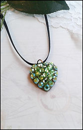 green loveheart necklace | bridesmaids green necklace | make your own bridesmaid jewellery