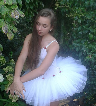 ballerina in the garden