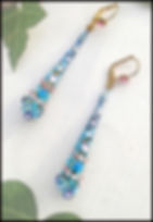vintage blue droplet earrings | Ethera jewellery | Swarovski crystal turquoise earrings
