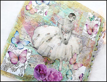 ballet collage art | vintage heritage wall art | Jacqui Martinez art | Paper craft course