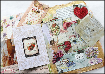 vintage heirloom papercrafts | Heart and Art Andalucia | scrapbook journal | teashop