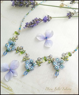 forget me not necklace | blue crystal flower necklace | Ethera jewellery
