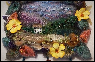 textile art course | textile art collage course | art course Spain | art holiday Spain | Painting holiday | painting holiday Spain