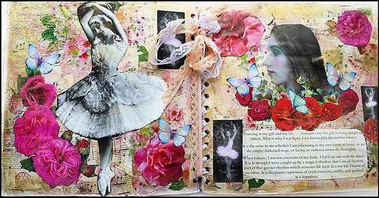 Art and Craft Holidays Spain | Vintage papercrafts | ballet journal | roses journal