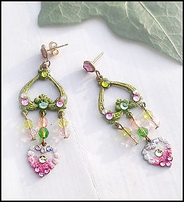 Vintage sparkles earrings | vintage lovehearte arrings