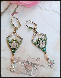 Art deco style costume jewellery | crystal bridal earrings | earring making course