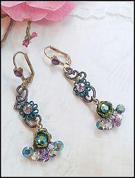 filigree crystal earrings | jewellery making holiday