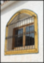 painted wrought iron window Sierra Nevada Spain