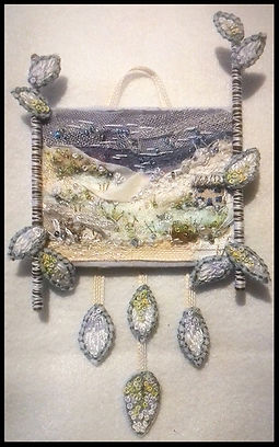 textile art course | art and craft holiday | embroidery course | winter landscape textile art | painting course in Spain | Painting holiday Spain
