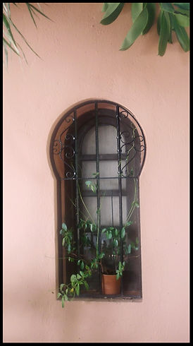 Arabic window in Almunecar