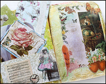 Victorian style journal | Jacqui Martinez papercraft | Journal making course