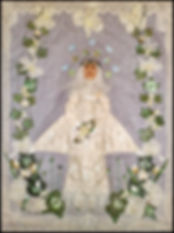 vintage bridal art | vintage wedding art | textile art holiday