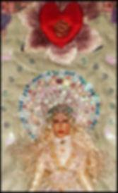 padded applique figure   romantic textile art