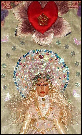 padded applique figure | romantic textile art