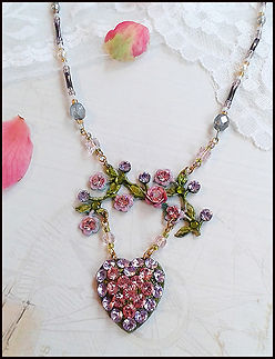 Make your own wedding jewellery | vintage heart and roses necklace | costume jewellery making course | wedding jewellery making course