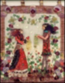 textile art collage craft course Spain