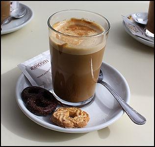cafe con leche in Granada Spain