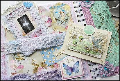 scrapbooking with lace | how to make vintage journals | craft holidays