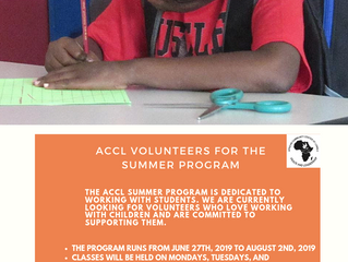ACCL SUMMER PROGRAM VOLUNTEERS
