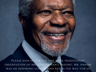Updated Information for Observation of the late Kofi Annan