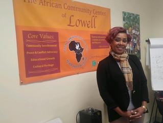 Tenesha Scarlett Visits Center