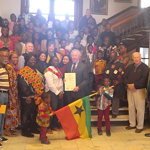 Ghana Flag Raising and Reception