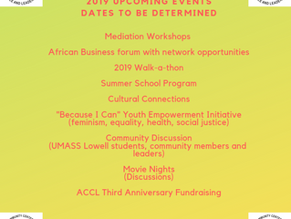 Upcoming Events in 2019...Stay Tuned!