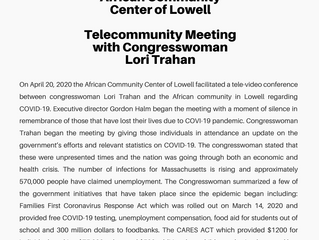 Telecommunity Meeting  with Congresswoman Lori Trahan
